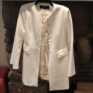 ZARA Basic NWOT Cream Tunic Blazer